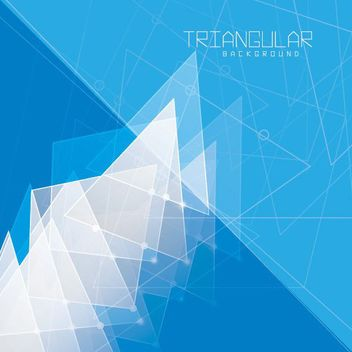 Abstract Fluorescent Triangles Blue Background - vector gratuit #163035