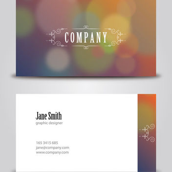 Classy Vintage Corporate Business Card - vector gratuit #163065