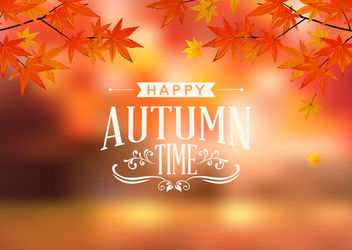 Beautiful Autumn Leaves Seasonal Background - vector gratuit #163075
