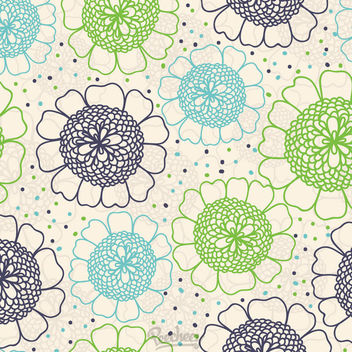 Abstract Seamless Vintage Floral Pattern - Free vector #163165