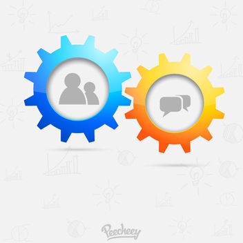 Communication Gear Wheels Background - vector gratuit #163185