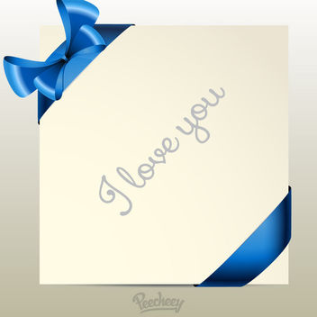 Greeting Card with Labeled Ribbons - vector gratuit #163225