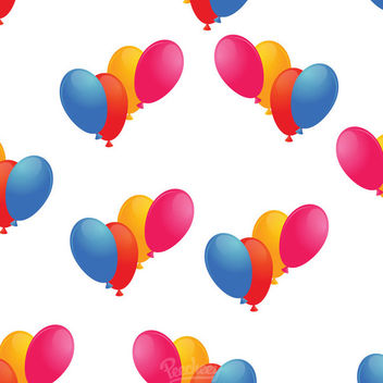 Colorful Simple Seamless Balloon Pattern - vector gratuit #163305