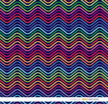 Colorful waves pattern - Free vector #163365
