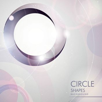 Glossy Circles & Rings Background - Free vector #163385