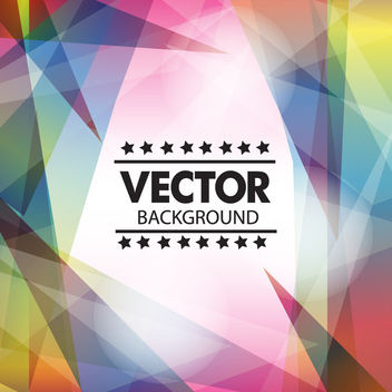 Fluorescent Colorful Triangles Abstract Background - vector gratuit #163415