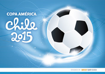 Copa America Chile football waves - vector gratuit #163445