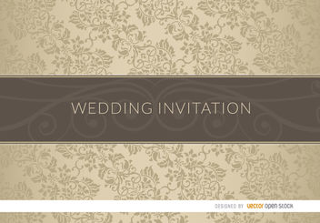 Floral classy wedding invitation sleeve - Free vector #163565