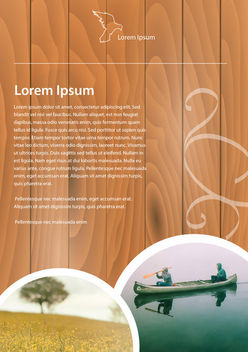 Abstract Wooden Textured Brochure Template - vector gratuit #163615