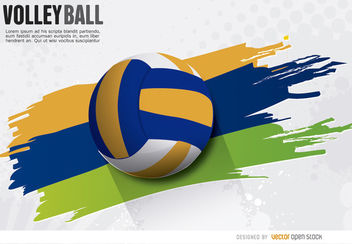 Volleyball painted wake ball - Free vector #163715