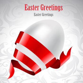 Ribbon Wrapped Egg Easter Card - бесплатный vector #163735