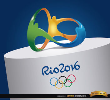 Rio 2016 Olympics logo on top - Free vector #163825