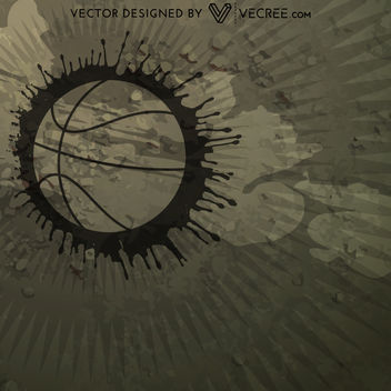 Grungy Abstract Basketball Background - vector gratuit #164035