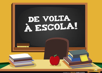 Back to school in Portuguese background - vector gratuit #164045