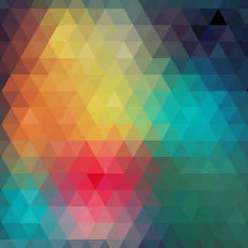 Colorful Polygonal Triangles Diamond Pattern - vector gratuit #164095
