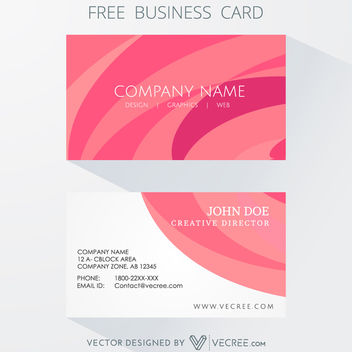 Clean Style Curves Background Business Card - vector gratuit #164145