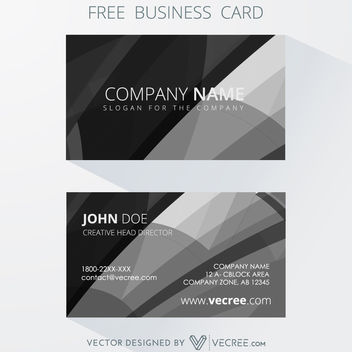 Black & White Abstract Background Business Card - Kostenloses vector #164155