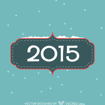 Simple Vintage 2015 Card Template - Kostenloses vector #164165