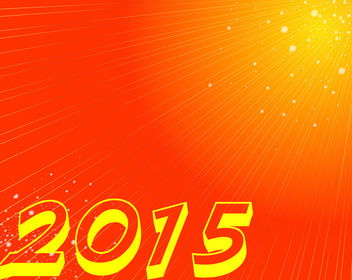 2015 Orange Background with Starburst Rays - Free vector #164185