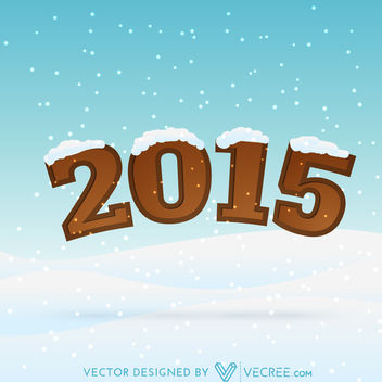 Funky Style Snowy New Year Typography - Kostenloses vector #164375