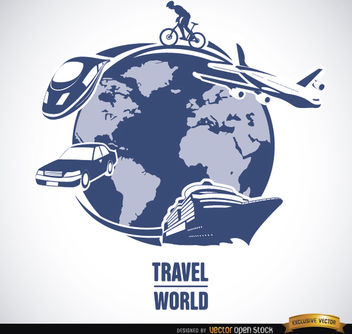 World travel transport means vector - бесплатный vector #164485