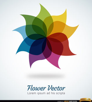 Rainbow flower background - бесплатный vector #164535