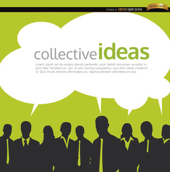 Business people collective ideas background - vector gratuit #164605