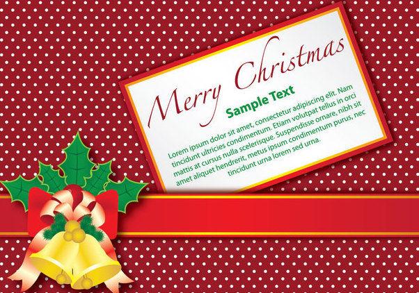 weihnachts geschenk karte mit glocken auf gestrichelten. Black Bedroom Furniture Sets. Home Design Ideas