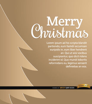 Christmas tree bronze background - Free vector #164675