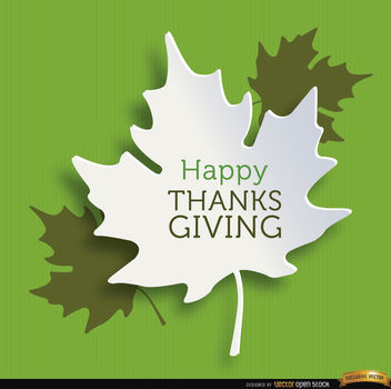 Happy Thanksgiving leaves background - vector #164795 gratis