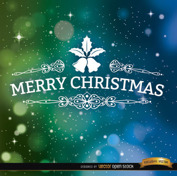 Merry Christmas space background - vector gratuit #165015