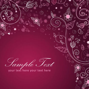 Decorative Hand Drawn Floral Background - vector gratuit #165035
