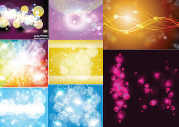 Shiny Abstract Colorful Background Set - Free vector #165095