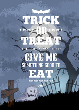Hunted Tree in the Graveyard Halloween Flyer - vector gratuit #165165