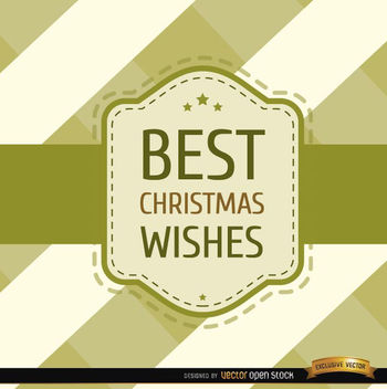 Christmas wishes stripes riband card - vector gratuit #165195