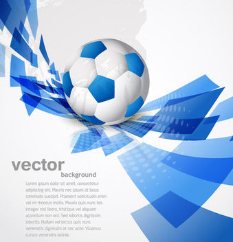 Blue Sport Background with Twisted Rectangles - vector gratuit #165265