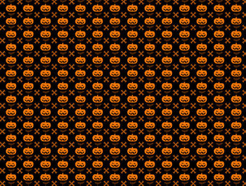 Halloween Pumpkin Seamless Pattern with Bones & Bats - vector gratuit #165375