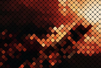 Dark & Gold Pixilated Mosaic Squares - Kostenloses vector #165445