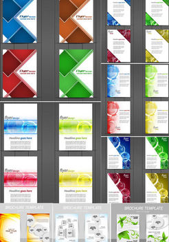 Creative Flyer & Brochure Pack Template - Free vector #165475