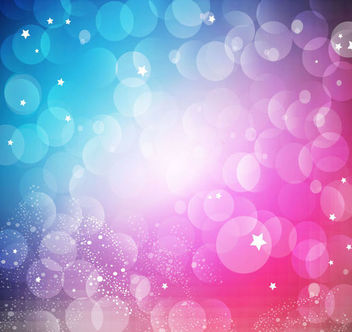 Blue Pink Background with Bokeh Bubbles - vector gratuit #165555
