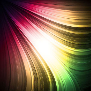 Abstract Rainbow Lines Background - vector #165605 gratis