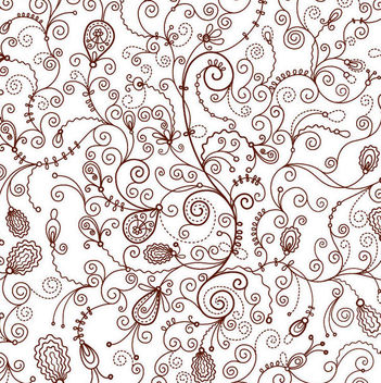Decorative Retro Seamless Floral Pattern - vector gratuit #165615