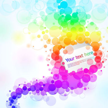 Colorful Floating Bokeh Circular Banner - Free vector #165645
