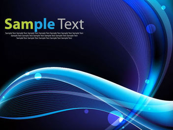 Glossy Blue Waves & Spiral Lines Background - Free vector #165695