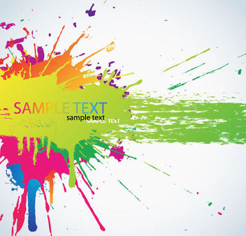 Colorful Painted Splashed Banner Template - vector gratuit #165715