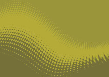 Flat Waving Halftone Green Background - бесплатный vector #165735