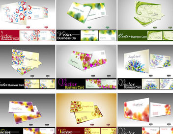 Creative Stylish Business Card Set Template - vector gratuit #165745