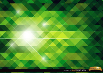 Green polygonal bright background - vector #165755 gratis