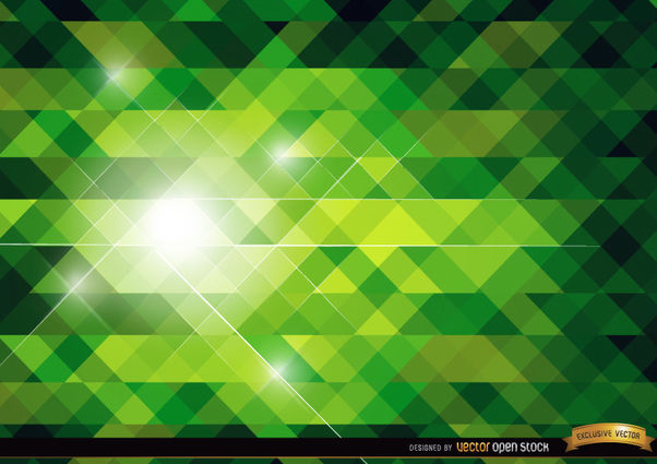 Green polygonal bright background - Free vector #165755