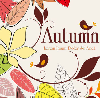 Vintage Abstract Hand Drawn Autumn Background - бесплатный vector #165765
